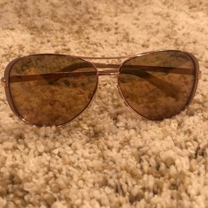 MICHAEL KORS Chelsea Aviator Rose Gold Sunglasses